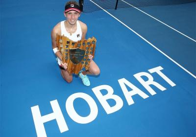 Элиза Мертенс чемпионка Hobart International