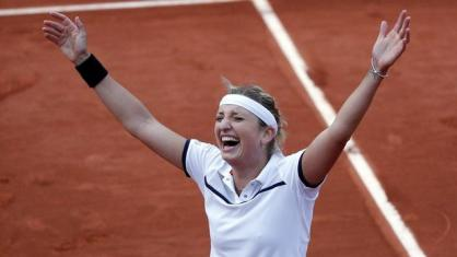 Тимеа Башински и Алисон ван Уйтванк четвертьфинал French Open 2015